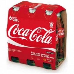 Coca-Cola Botellas Vidrio (Pack 6x20cl)