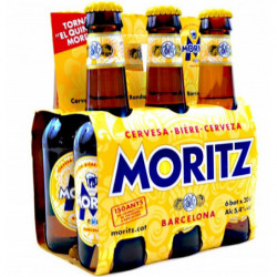 Cerveza Moritz Botella 20cl (Pack6 x 20cl) 5,4%