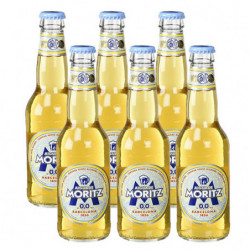 Cerveza Moritz Sin Alcohol 0,0% Botella (Pack6 x 33cl)