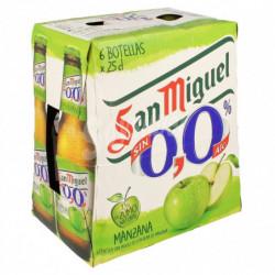 Cerveza San Miguel 0,0% Manzana Botella (Pack6 x 25cl)