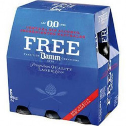 Cerveza Free Damm Sin Alcohol (Pack6 x 25cl)