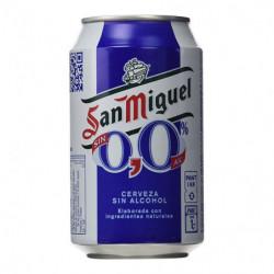 Cerveza San Miguel 0,0% Sin Alcohol Lata 33cl