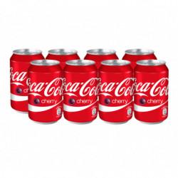 Coca-Cola Cherry Coke Latas (Pack 8x33cl)