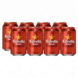 Cerveza Estrella Damm (Pack8 x 33cl)