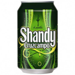 Cerveza Shandy Cruzcampo Lata 33cl 0,9%