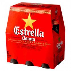 Cerveza Estrella Damm Botella 25cl (Pack6 x 25cl) 5,4%