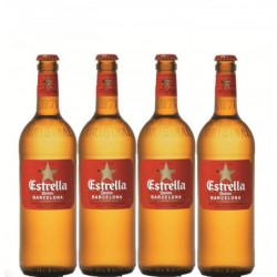 Cerveza Estrella Damm Botella (Pack 4x33cl) 5,4%