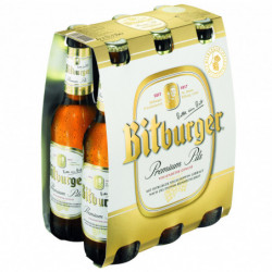 Cerveza Bitburger Botella (Pack6 x 33cl) 4,6%