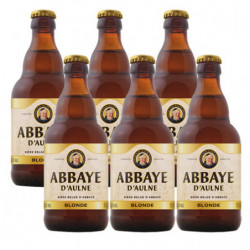 Cerveza Abbaye D'Aulne Rubia Botella 6% (Pack 6x33cl)