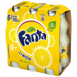 Fanta Limón 200ml Pack 6 Botellas Vidrio