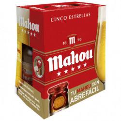 Cerveza Mahou Cinco Estrellas Botella (Pack6 x 25cl) 5,5%