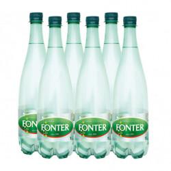 Agua Fonter con Gas Botella 1L (Pack6 x 1L)