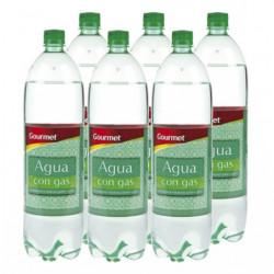 Agua Con Gas Gourmet 15L Pack 6 Botellas
