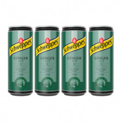 Tónica Schweppes Ginger Ale (Pack4 X 33cl)