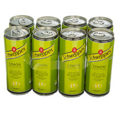 Refresco Schweppes Limón Latas (Pack 8x33cl)