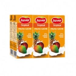 Juver Zumo Fruta + Leche Tropical Bricks (Pack 6x20cl)