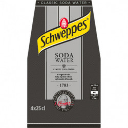 Schweppes Soda Water 25cl Pack 4 Botellas