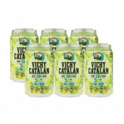 Agua Vichy Catalán Limón Latas 33cl (Pack6 x 33cl)
