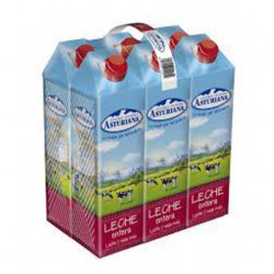 Central Lechera Asturiana Leche Entera Bricks (Pack 6x1L)