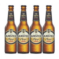 Cerveza Amstel Oro Botella (Pack4 x 33cl)