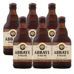 Cerveza Abbaye D'Aulne Negra Botella 6% (Pack6 x 33cl)
