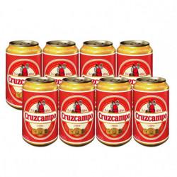 Cerveza Cruzcampo lata 4,8% (Pack8 x 33cl)