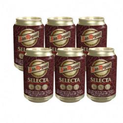 Cerveza San Miguel Selecta Lata (Pack6 x 33cl) 6,2%