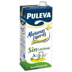 Puleva Leche Semidesnatada Sin Lactosa Mañanas Ligeras 1L