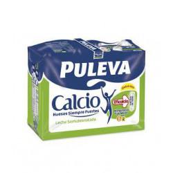 Leche Puleva Semidesnatada con Calcio Briks (Pack6 x 1L)