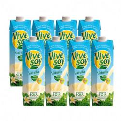 Bebida Vivesoy Vainilla Briks (Pack8 x 1L)