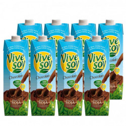 Bebida de Soja Vivesoy Chocolate Briks (Pack8 x 1L)