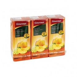 Zumo Gourmet Melocotón, Manzana y Uva (Pack3 x 200ml)