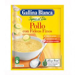 Sopa Gallina Blanca Pollo Fideos Con Sal