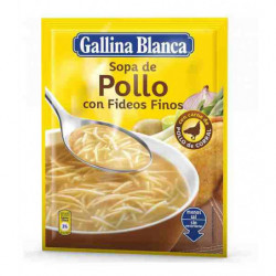 Sopa Gallina Blanca Pollo Con Fideos