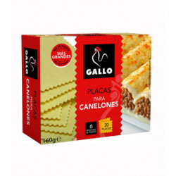 Pasta Gallo Canelones 20 Placas