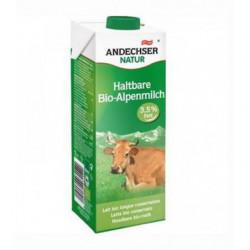 Leche de Vaca Ecológica Entera UHT 35% Grasa Andechser Bio