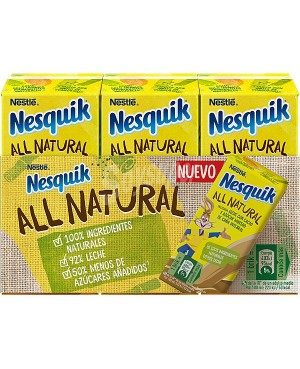 Batido de Chocolate Nesquik All Natural 3 x 180 ml