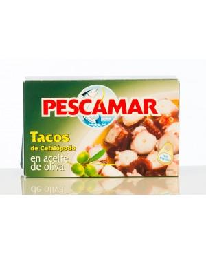 Pescamar Tacos Cefalopodo en Aceite de Oliva OL120 72g.