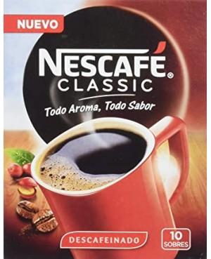 Sobre Nescafé Descafeinado. Estuche 10 unidades