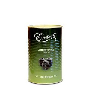 Olives Negres Amb os Excelencia 350 g.