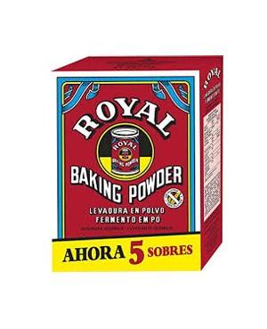 Levadura en Polvo Royal 5 sobres