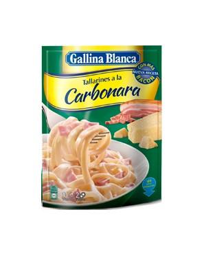 Tallarines Carbonara y Parmesano Gallina Blanca 2 raciones
