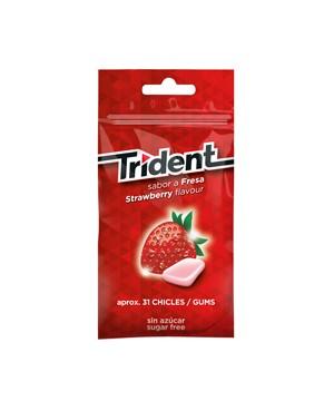 Trident Fresas grageas Bolsa 43.5 g