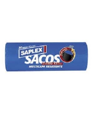 Bolsas Escom.Saplex T.Facil 82X105 Negra