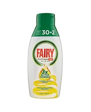 Fairy Gel Lavavajillas 30+2 Dosis.
