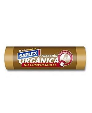 Bolsa Saplex Fracción Orgánica 45X47 15 Unidades.