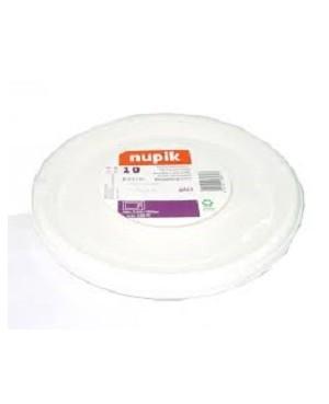 Platos Plásticos Nupik 25 cm. 10 Unidades