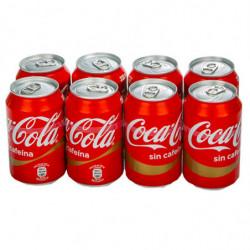 Coca-Cola Sin Cafeína Latas (Pack8 x 33cl)