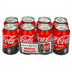 Coca-Cola Zero Sin Cafeína latas (Pack8 x 33cl)