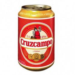 Cerveza Cruzcampo Botella Lata 33cl 4,8%